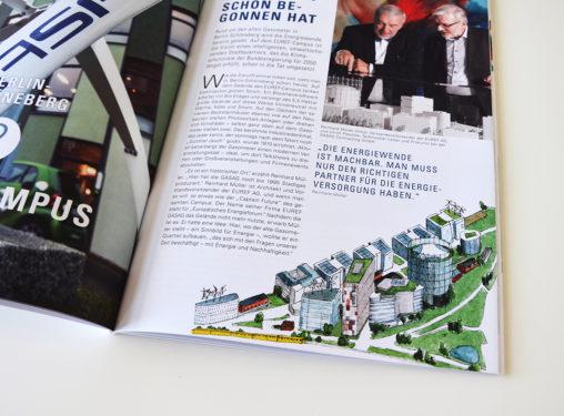 "Magazn-Innenillustration: Energieprojekt EUREF-Campus im Magazin ""Reiseführer Energie"""