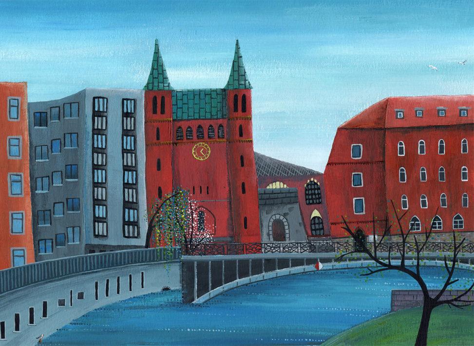 Illustration der Gotzkowskybrücke