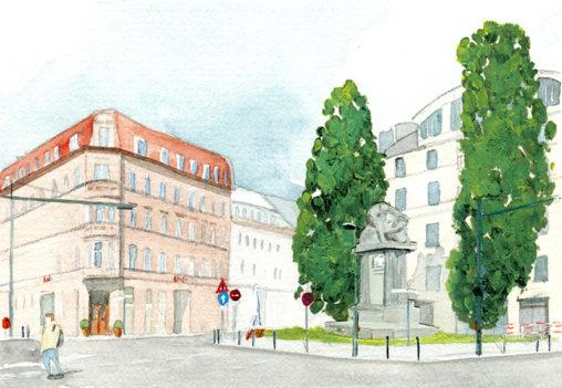Illustration vom Karlplatz