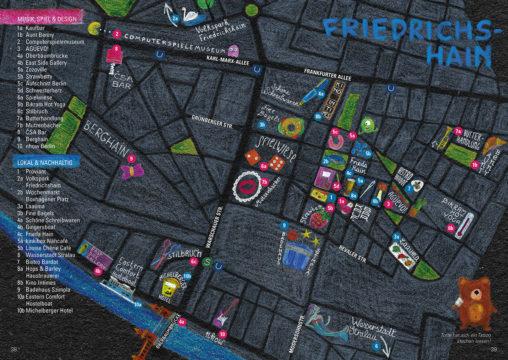 Stadtkarte des Bezirks Friedrichshain