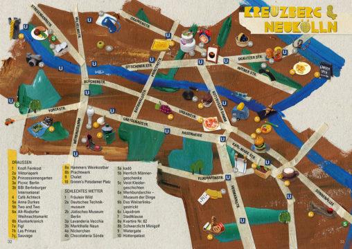 Stadtkarte mit thematischen Touren, Hauptstraßen, U- und S-Bahn-Stationen