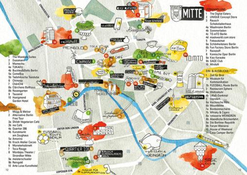 Stadtkarte des Bezirks Mitte