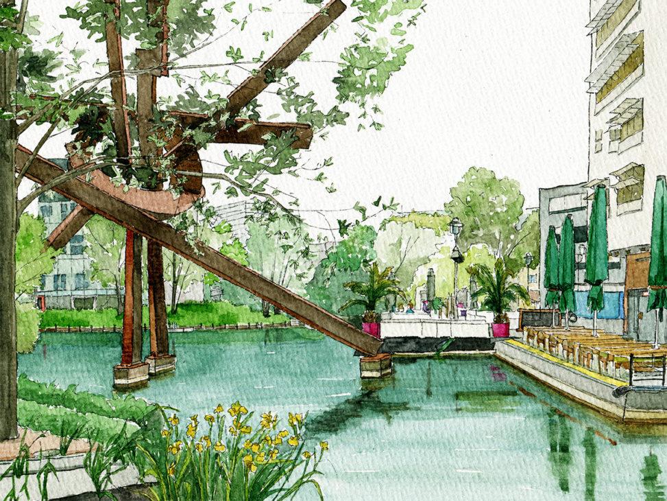 Illustration vom Piano See