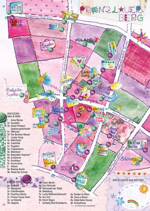 Stadtplan vom Bezirk Prenzlauer Berg
