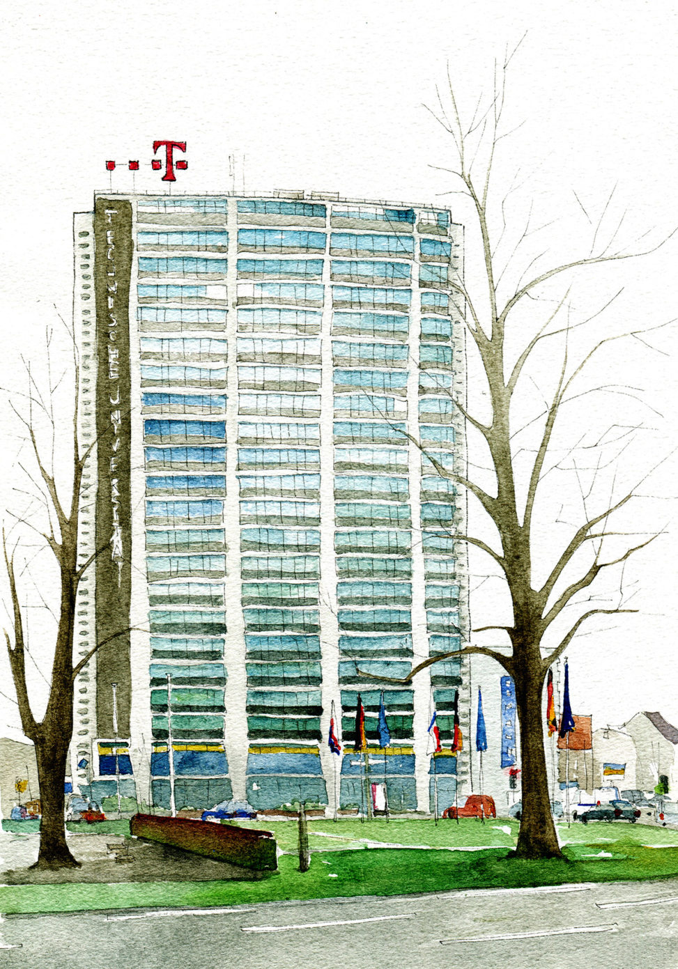 Illustration vomTelefunken-Hochhaus