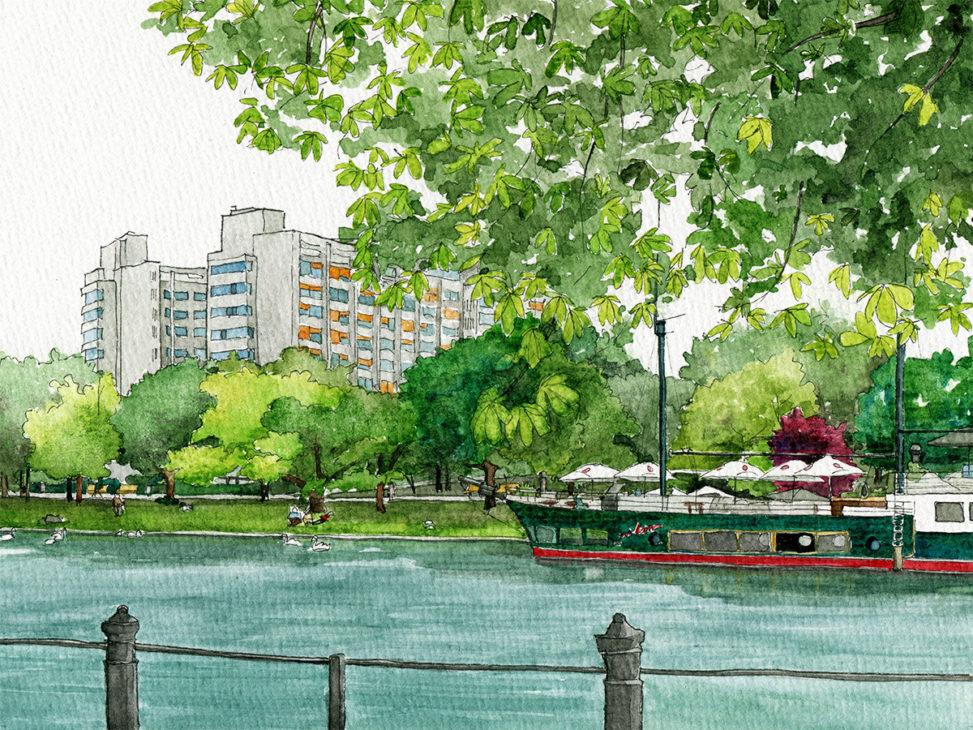 Illustration vom Urbanhafen