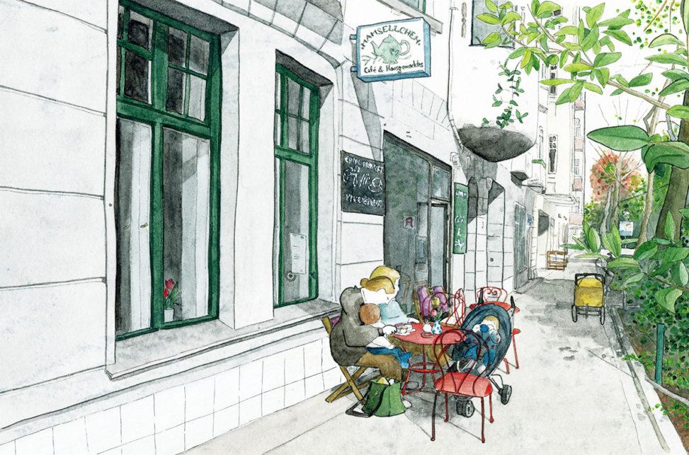 Illustration vom Café Mamsellchen