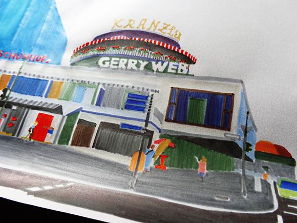 Illustration vom Café Kranzler, Detail