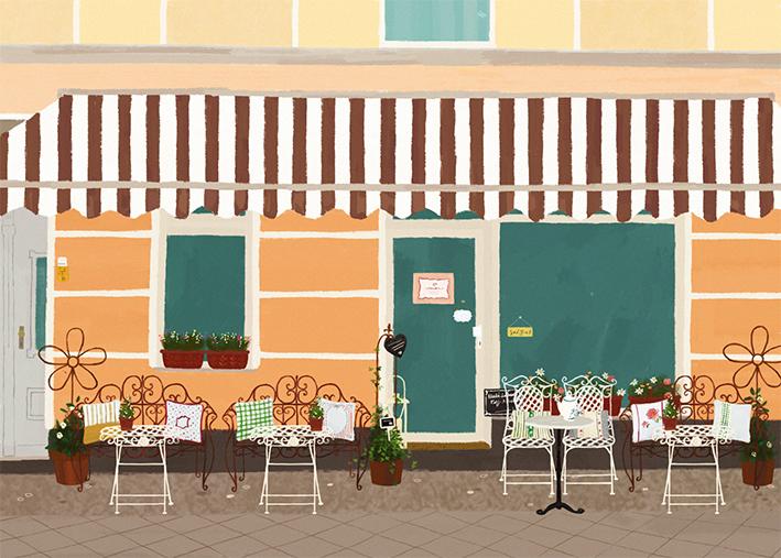 Postkarte vom Café Natürlicher Lebensraum