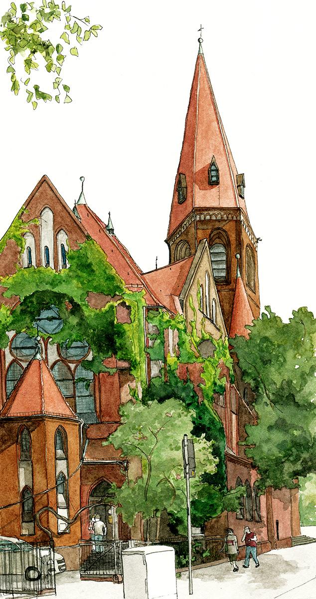 Illustration der Heilige-Geist-Kirche