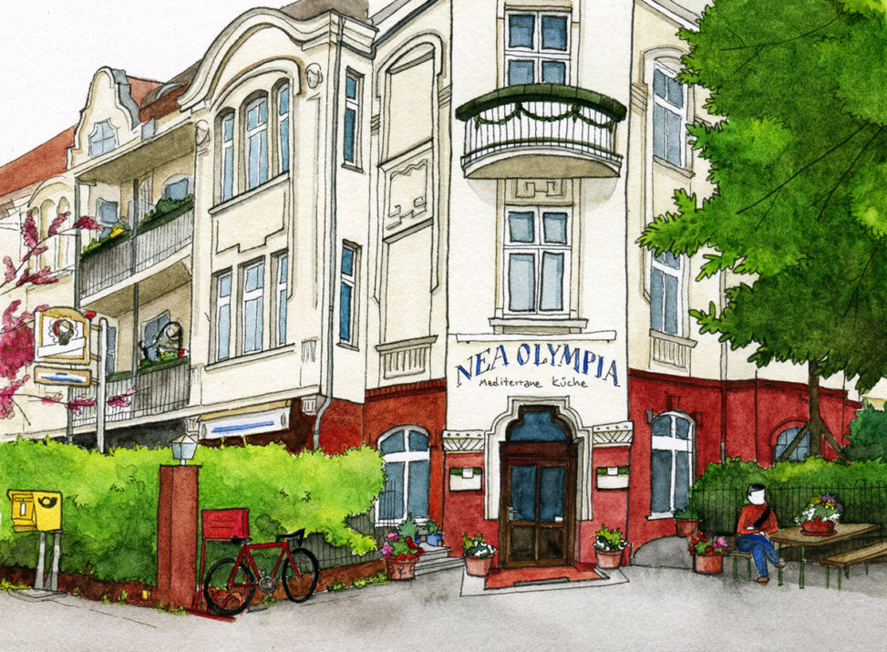 Illustration vom Restaurant Nea Olympia