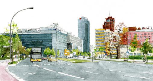 Illustration der Potsdamer Straße