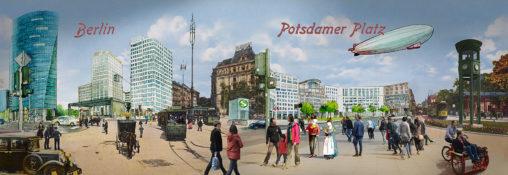 Illustration vom Potsdamer Platz, Alexander Kupsch und Sara Contini-Frank