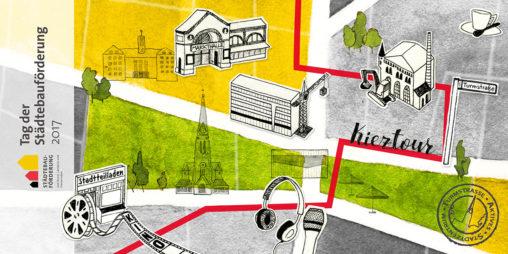 Postkarte zum Tag der Städtebauförderung 2017, Entwurf Vorderseite
