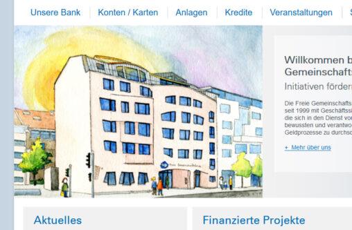 Illustration vom Neubau der Freien Gemeinschaftsbank in Basel
