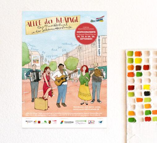 Plakat für Schaufenster und Werbeflächen